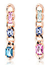 European Style Fashion Gold Plated Rhinestone  Chunky Chain Earrings