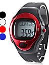 Мужской Наручные часы LCD Календарь Секундомер Защита от влаги тревога Цифровой Pезина Группа Черный