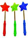 유연한 3 형태 5 날카로운 별 지팡이에게 (무작위 색깔)를 깜박임