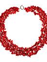 천연 붉은 산호 보석 목걸이
