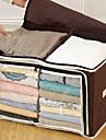 Caixa de armazenamento 2 grade marrom roupas visíveis (1 peça)