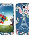 Flores Torre Eiffel Padrão Corpo adesivos para Samsung I9502 Galaxy S4