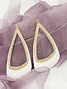 Korea edition geometric drip oil hollow triangle earrings
