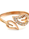 Ring Adjustable Wedding / Party / Daily Jewelry Crystal / Alloy Women Band Rings Gold / Silver