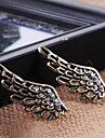 European and American vintage jewelry exaggerated exquisite diamond angel wings earrings E619