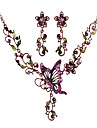 Z&X®  women's Charming flower butterfly Necklace Earring Jewelry Set