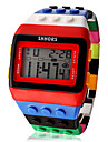 Women\'s Digital Watch Alarm / Calendar / date / day / Chronograph Plastic Band Candy color / Wood / Fashion