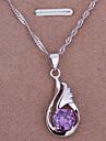 18K necklace.fashion ювелирные изделия пера Подвеска Серебряная цепочка