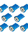 8x T10 194 168 501 4-SMD 3528 LED Car Light Bulb Azul