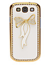 Crystal Bling Bowknot Pattern Leather Case Cover for Samsung Galaxy S3 I9300