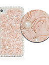 Flower Pearl Leather Case for iPhone 4/4S