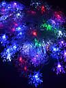 20-led 4m водонепроницаемый eu штекер на открытом воздухе праздничный цветок цветка rgb свет водит шнур свет (220v)