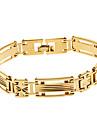 Miss ROSE®Men's Golden Carved Wide Bracelet No.145