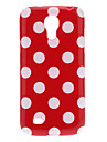 Adorável Dot TPU Case Capa Skin Polka para Samsung Galaxy S4 Mini I9190