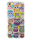 3D Adorable Owls Pattern PC Hard Case for iPhone 5C