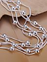 bracelets de cuivre argenté de la mode 19cm femmes