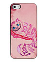 Enchanting Rose Cat Pattern PC Hard Case with Black Frame for iPhone 5/5S