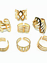 (1Pc)Fashion Women Golden Alloy Ring(Golden)