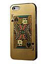 아이폰 5/5s/5g를위한 포커 카드 디자인 단단한 케이스 (레드 킹 또는 킹 블랙)