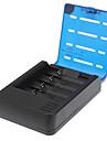 Soshine 4-Slot литий-ионная батарея Смарт зарядное устройство ж / 2-П Plug адаптер / Автомобильное зарядное устройство (для ЕС)