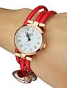 Mulheres Bracele Relógio Relógio Casual Quartzo Banda Branco marca