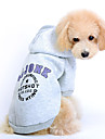 Cat / Dog Hoodie Red / Gray Dog Clothes Winter / Spring/Fall Letter & Number Cute / Sports