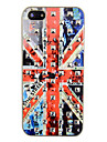 Square Rivet British Flag Pattern Back Case for iPhone 5/5S