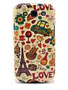 삼성 갤럭시 S3 I9300를위한 에펠 탑 & 빵 광택있는 TPU 케이스