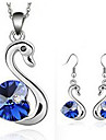 Women's Jewelry Set - Crystal, Silver Plated Include Dark Blue / Purple / Rose For Party / Daily