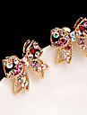 Stud Earrings Bowknot,Jewelry Coppery Crystal / Alloy Wedding / Party