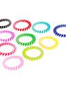 (10pcs) Moda Multicolor laços de cabelo para as Mulheres (laranja, verde e muito mais)
