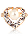 Fashion Women'S Transparent Crystal Rings(Golden)(1 Pc)
