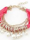 (1 Pc)Fashion 45cm Women's  Lace Friendship Bracelet(Red, Blue, Black, White, Pink, Orange)