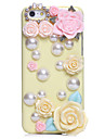 Casos Pérola Flor Jewel cobertos para iPhone 5C