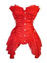 Corpete Gotica Preto Branco Vermelho Acessorios Lolita Para Organza Algodao