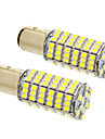 2pcs BAY15D(1165) Automatisch Lampen SMD 3020 660 lm LED Koplamp For Universeel
