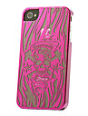 Skull Pattern Radium Carving Case for iPhone 4/4S