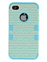2-in-1 Design Fresh Curve Pattern Hard Case with Silicone Inside Cover for iPhone 4/4S