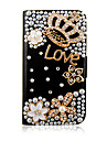 Zircon PU Leather Case Full Body Couronne pour iPhone 4/4S (couleurs assorties)