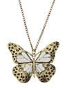 1pc Vintage(Butterfly Pendant) Bronze Copper Pendant Necklace