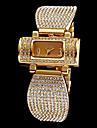여성용 패션 시계 팔찌 시계 페이브 시계 석영 모조 다이아몬드 스테인레스 스틸 밴드 스파클 우아한 실버 골드