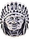 lureme®alloy anel retrato cabeça indiana