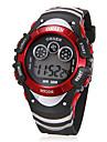 남녀 공통 다기능 둥근 다이얼 고무 밴드 LCD 디지털 손목 시계 (분류 된 색깔)
