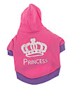 Dog Hoodie Dog Clothes Breathable Casual/Daily Tiaras & Crowns Rose Costume For Pets