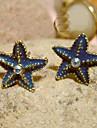 Европейский и американский стиль Ocean Blue Starfish Встроенные Серьги с бриллиантами серии E10