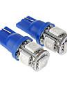 T10 1W 5x5050SMD 20-50LM Голубой свет Светодиодные лампы для автомобилей (12V)
