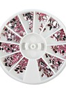 1PCS Wheel Mini Mixed Shaped Rose Nail Art Decoration