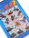 12PCS Top Quality Butterfly Design Single Hook Fishing Lure