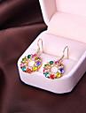Korean version of the cute fashion ladies temperament earrings round diamond earring minimalist E824