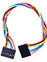 8 PIN Dupont Wire Female Connector 200mm Length 2.54mm Pitch - Multicolor